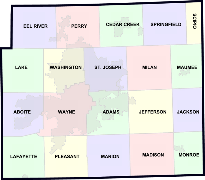 Allen County Townships Map